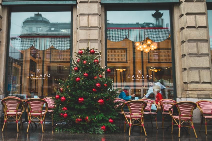 Decoración navideña para restaurantes