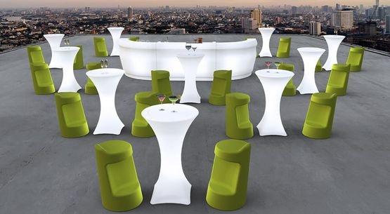 Mobiliario de terraza para discoteca