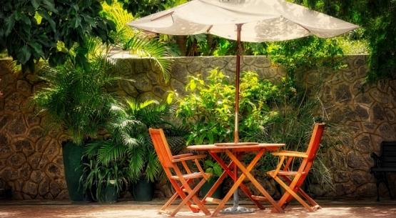 Parasoles para terraza de hostelería