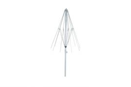 Barilla Parasol aluminio estriado Textilene Ø2m