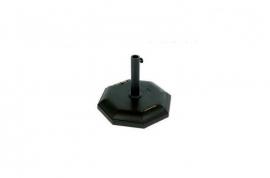 Base parasol octogonal cemento negro