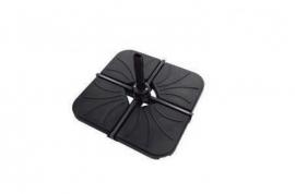 Base parasol cemento negro
