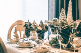 Mobiliario para restaurante en Navidad