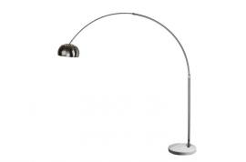 Lámpara de diseño Arc base mármol blanco