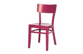 Silla madera Andrax School IV rosa