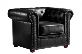 sillón chester craiova similpiel negra