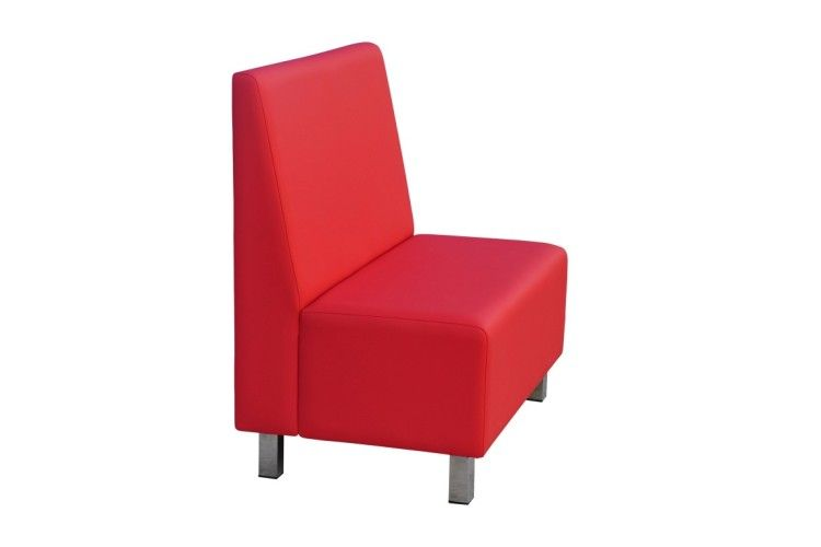 Banco hosteleria Twist rojo lateral