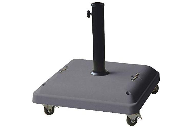 Base para parasol de cemento con ruedas