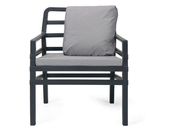 Butaca de diseño ARIA antracita y gris