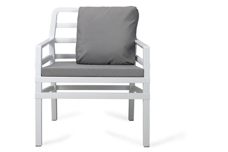 Butaca de diseño ARIA blanca y gris