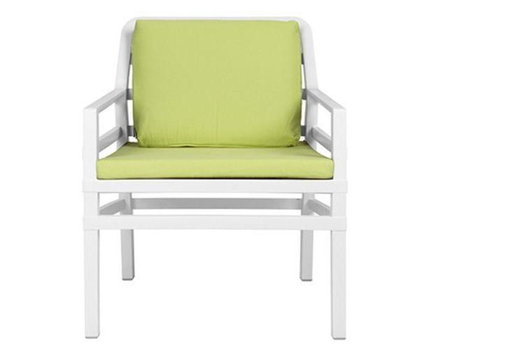 Butaca de diseño ARIA blanca y verde
