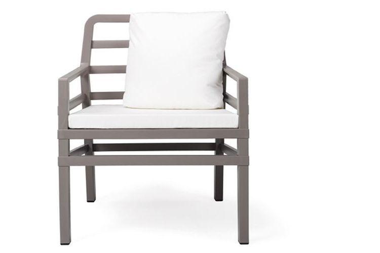 Butaca de diseño ARIA gris y blanca