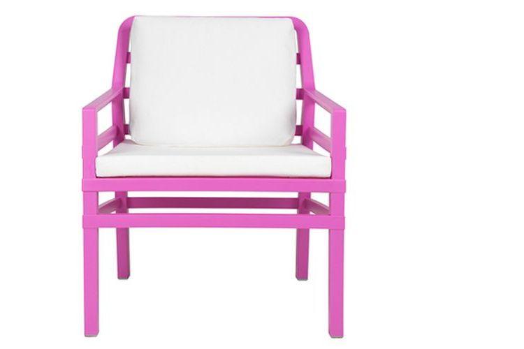 Butaca de diseño ARIA lila y blanco