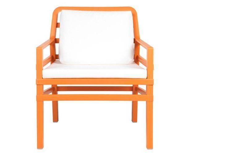 Butaca de diseño ARIA naranja y blanco