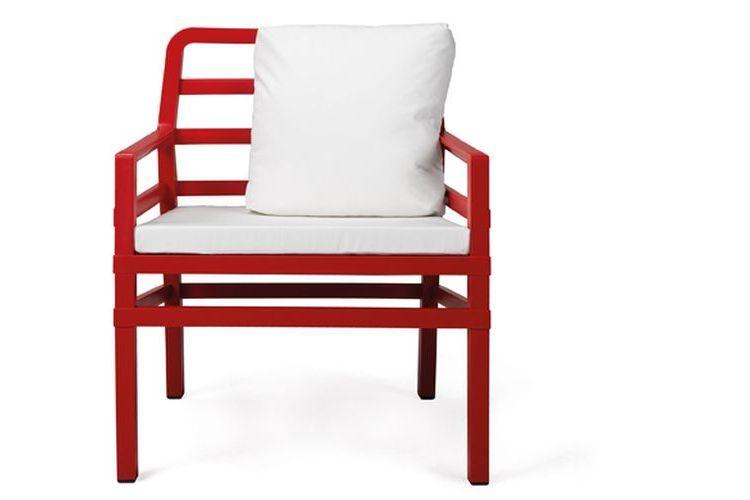 Butaca de diseño ARIA rojo y blanco