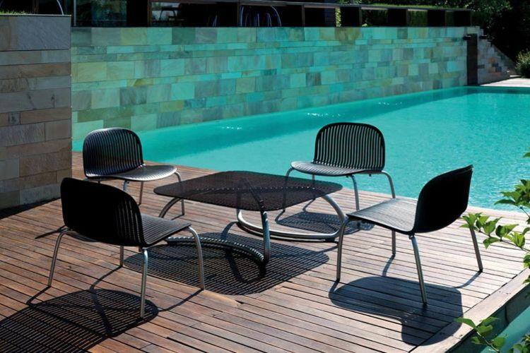 Butaca de diseño ninfea relax terraza