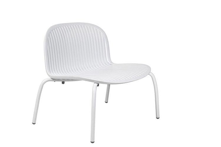 Butaca de diseño ninfea relax blanca