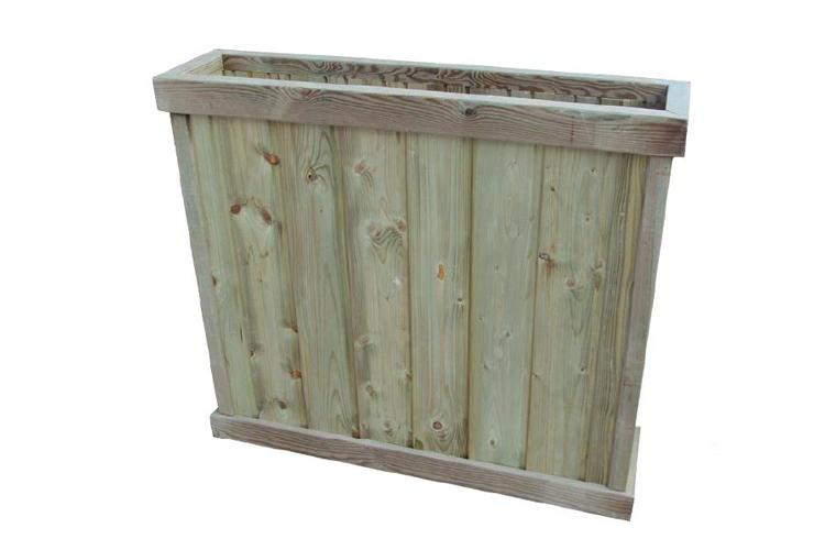 Jardinera Rustic de madera