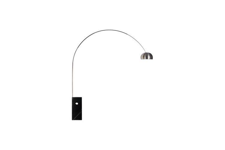Lámpara de diseño New Arc Big base mármol negro
