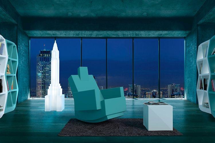 Lampara con luz neón New York hotel
