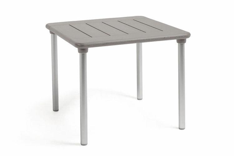 Mesa cuadrada apilable Maestrale gris