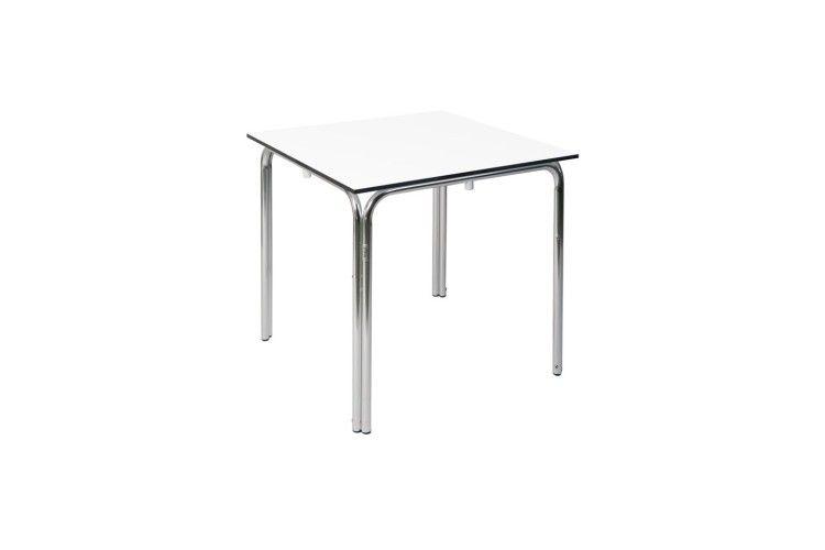 Mesa de aluminio Rimini Compact blanca