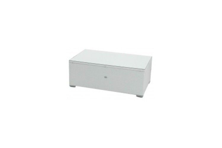 Mesa de centro de rattan blanco artic