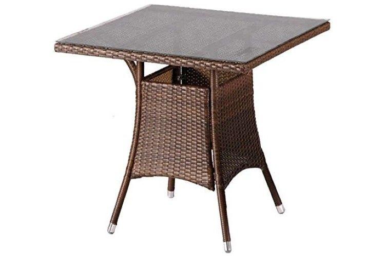 Mesa de rattan Remo café