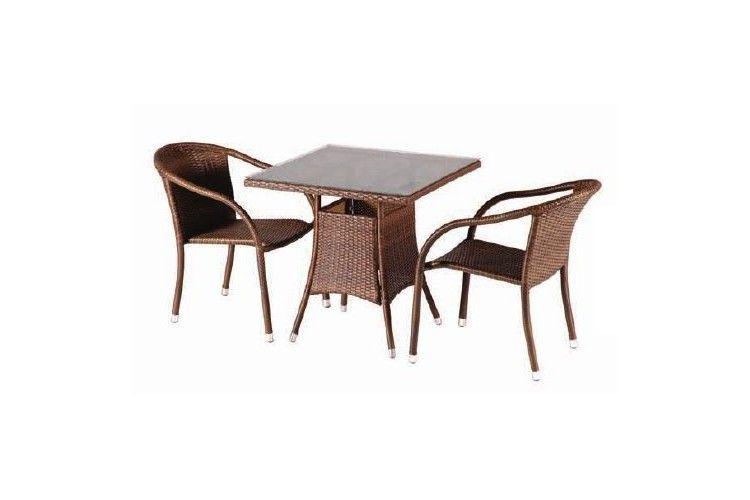 Mesa de rattan Remo café conjunto