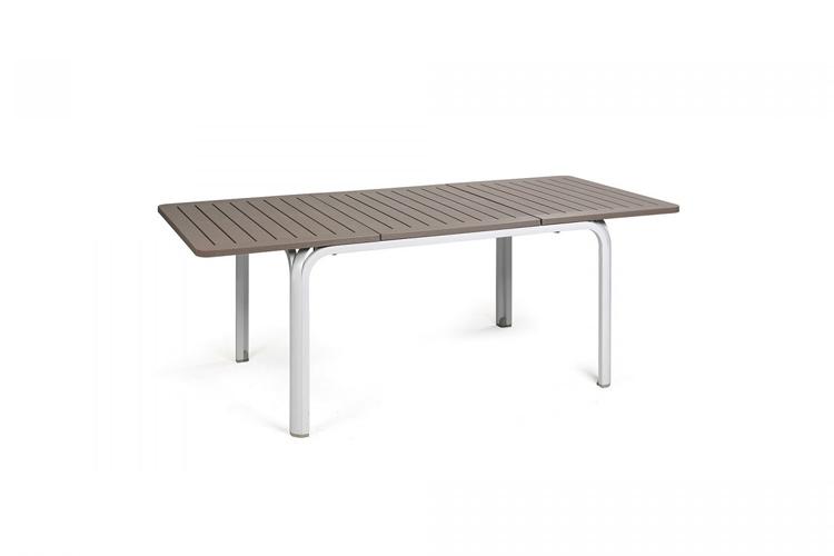mesa para hosteleria extensible alloro 140 blanco tortora