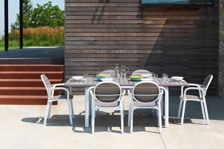 mesa para hosteleria extensible alloro 140 exterior