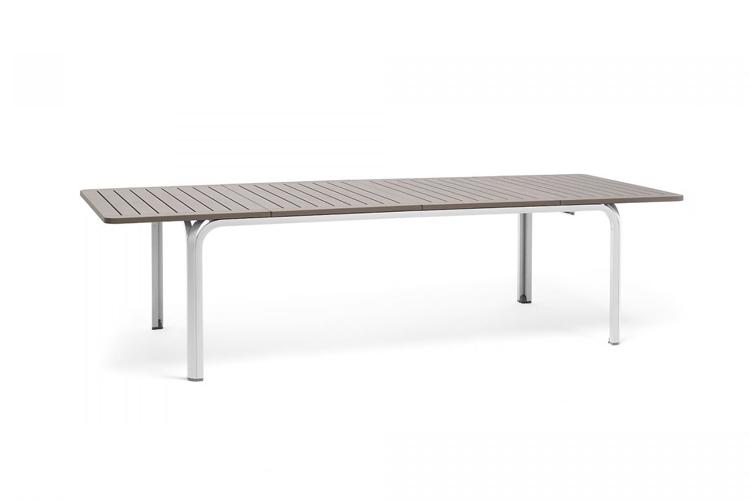 mesa para hosteleria extensible alloro 210 blanco tortora