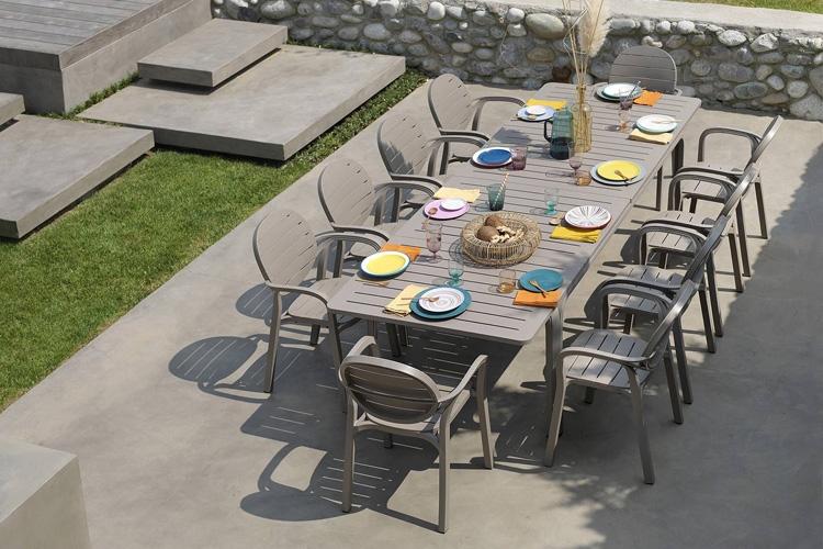 mesa para hosteleria extensible alloro 210 exterior lateral