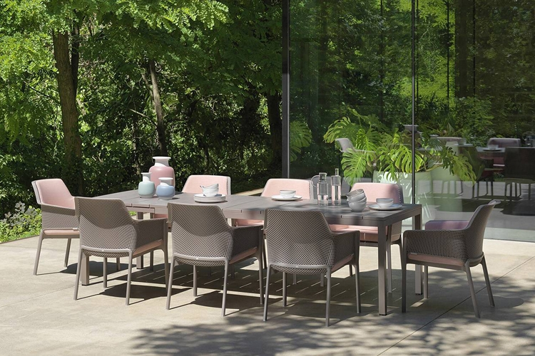 mesa para hosteleria extensible rio 210 ambiente lateral