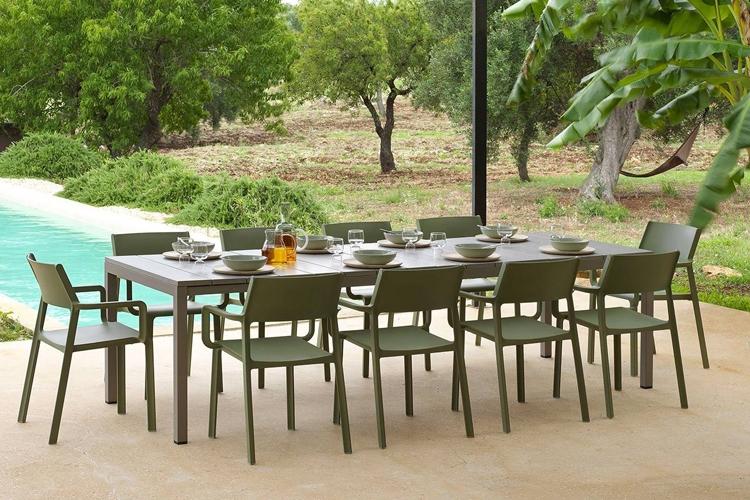 mesa para hosteleria extensible rio 210 exterior
