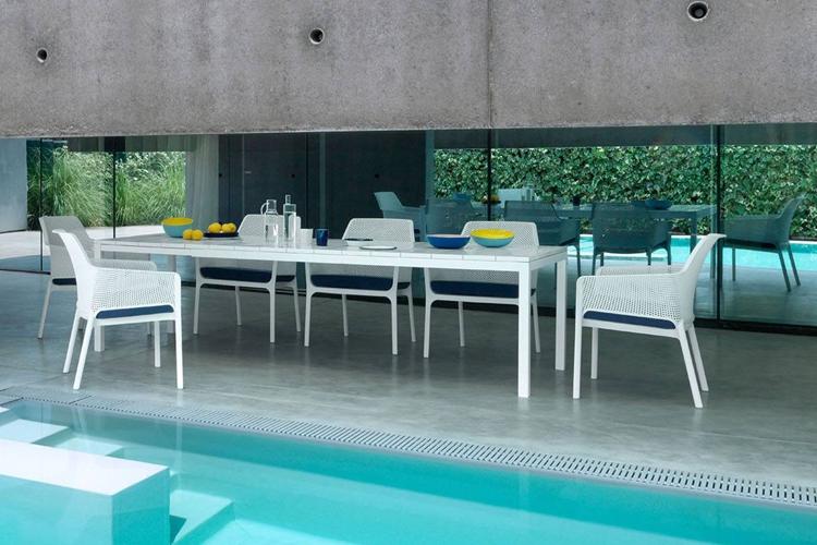 mesa para hosteleria extensible rio 210 exterior lateral