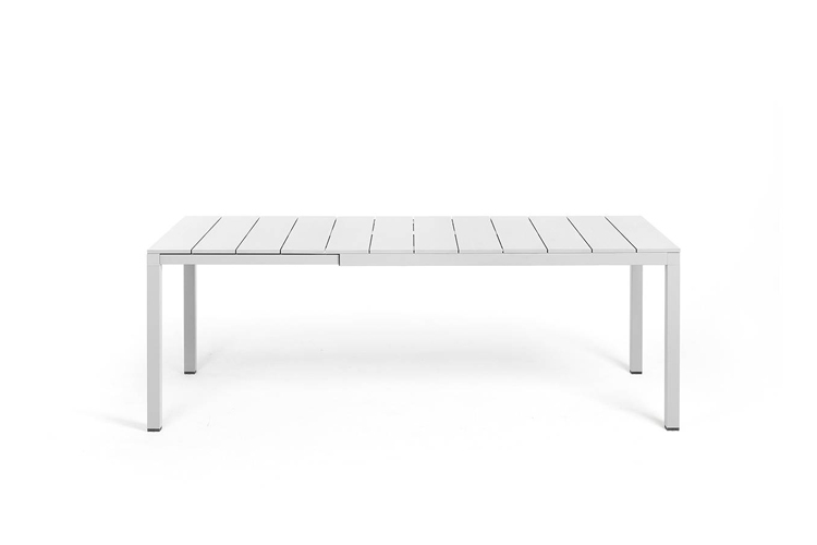 mesa para hosteleria extensible rio alu 140 blanca