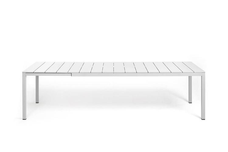 mesa para hosteleria extensible rio alu 210 blanca