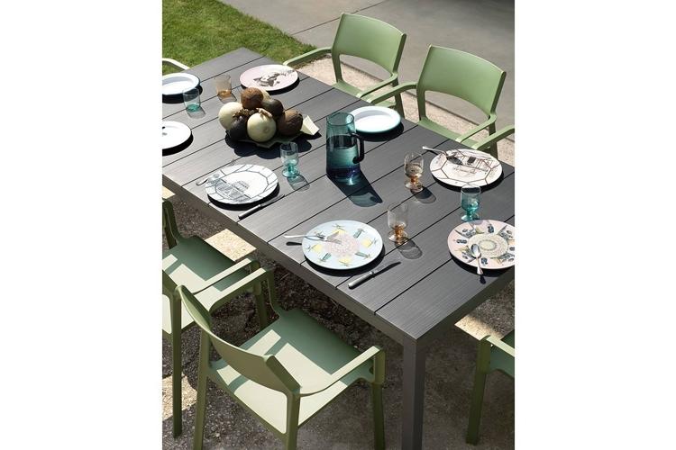 mesa para hosteleria extensible rio alu exterior detalle
