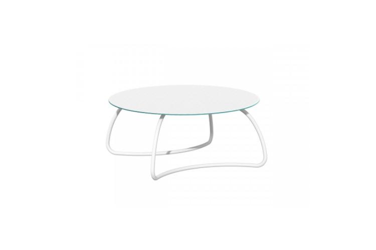 Mesa de cristal hosteleria loto dinner blanca