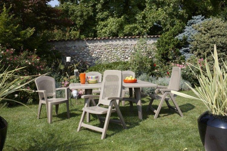 Mesa para exterior hosteleria President gris jardin
