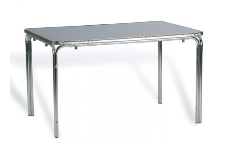 mesa rectangular aluminio terraza