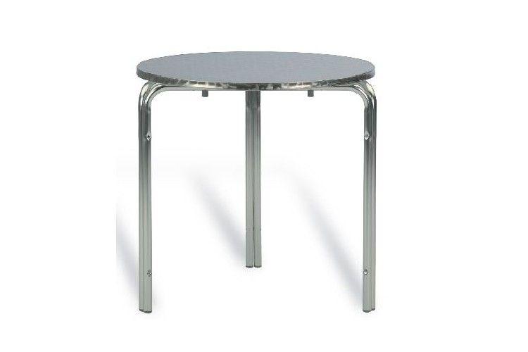 Mesa redonda aluminio terraza
