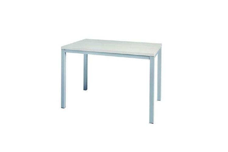 Mesa rectangular aluminio blanca  Vela