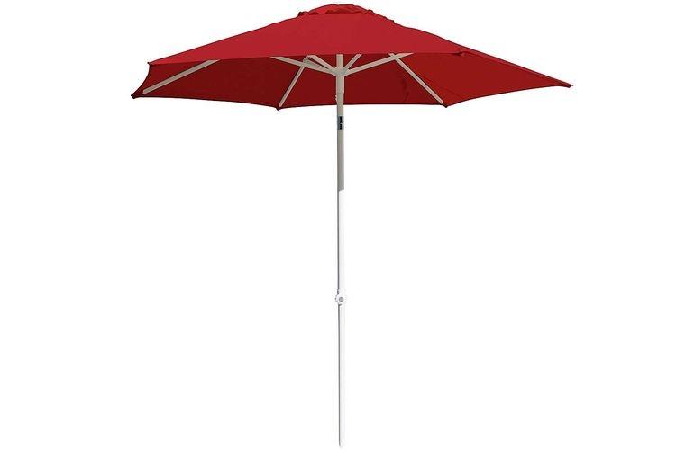 Parasol aluminio para hosteleria 2,5 rojo