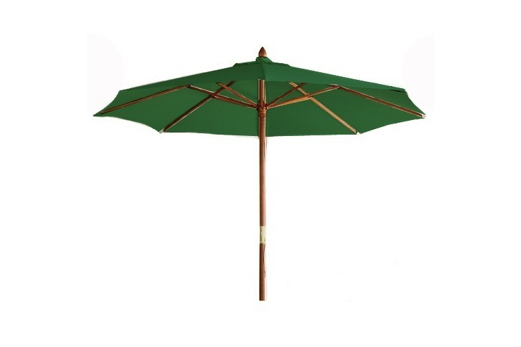 Sombrilla madera hosteleria verde