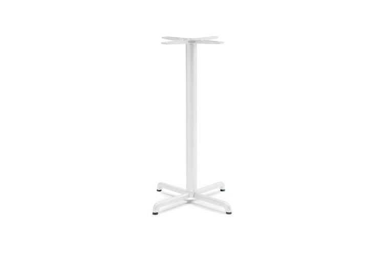 Pie mesa hosteleria aluminio blanco Calice alta