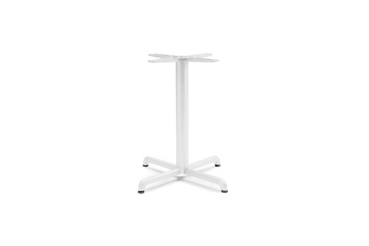 Pie mesa hosteleria aluminio blanco Calice