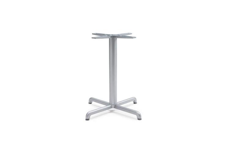 Pie mesa hosteleria aluminio plata Calice