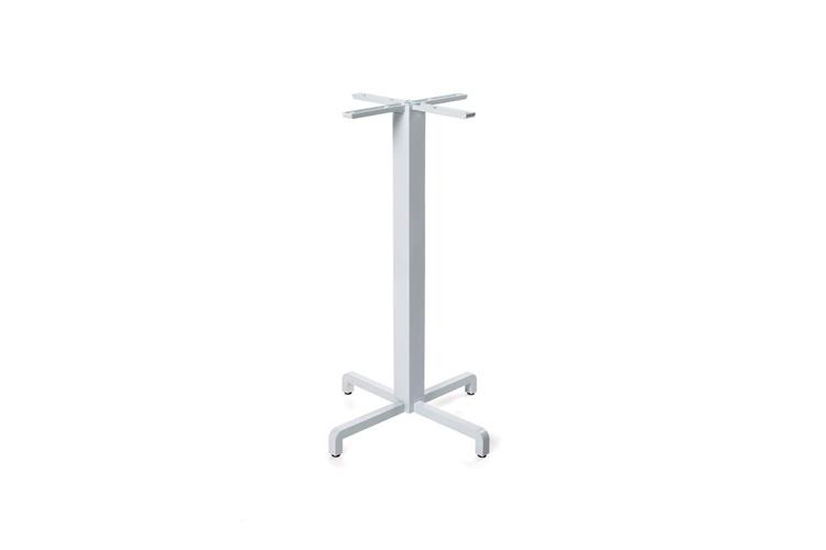 Pie mesa hosteleria aluminio blanco Fiore alta